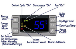 CellarPro Cooling Unit - Control Panel