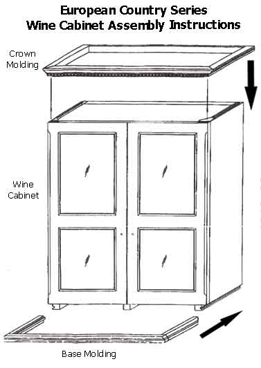Crown and Base Molding Assembly Instructions
