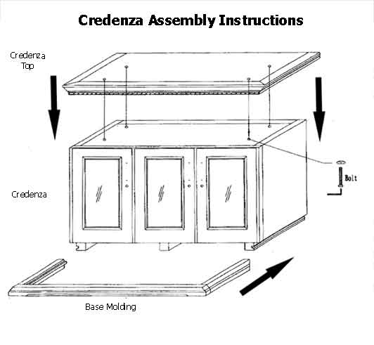 Credenza Assembly Instructions